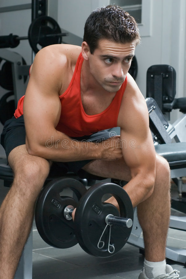 Download Bicep Curl - Side Angle stock image. Image of bicep, training - 5124749