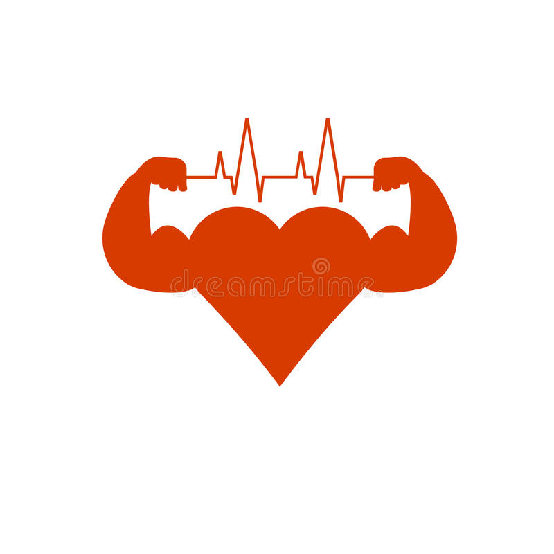 Biceps de coeur illustration stock
