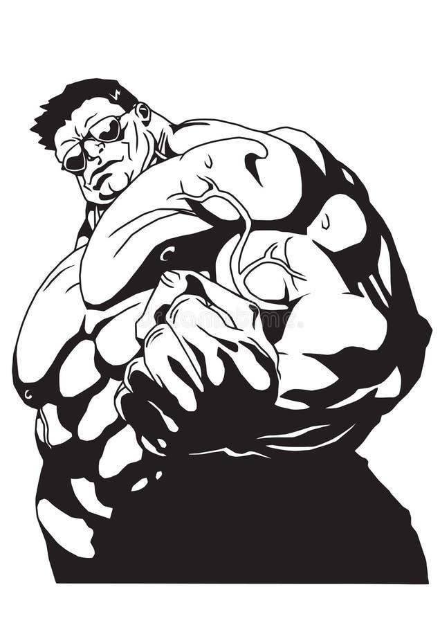 Biceps ennuyeux illustration de vecteur