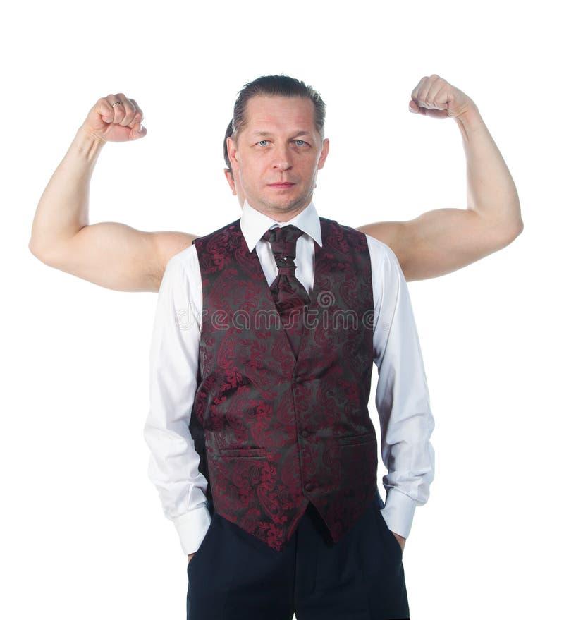bicepsman royaltyfri fotografi