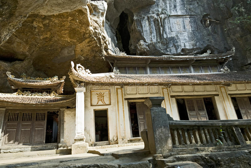 bich东寺庙越南 免版税图库摄影