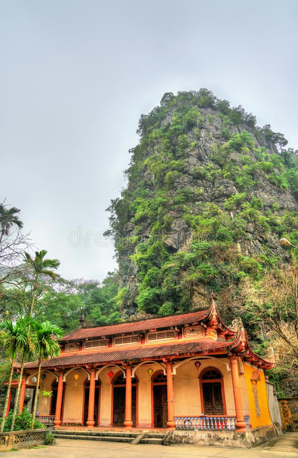 Bich Dong Pagoda in Ninh Binh Province van Vietnam stock fotografie