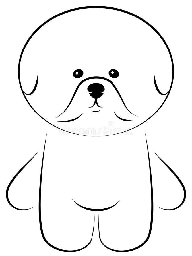 Bichon Frise illustrazione di stock