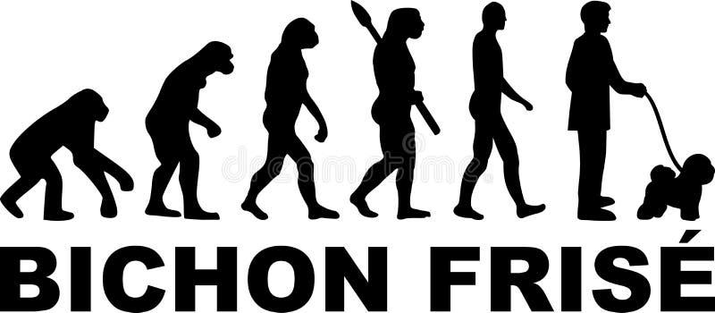 Bichon Frise ewolucja ilustracja wektor