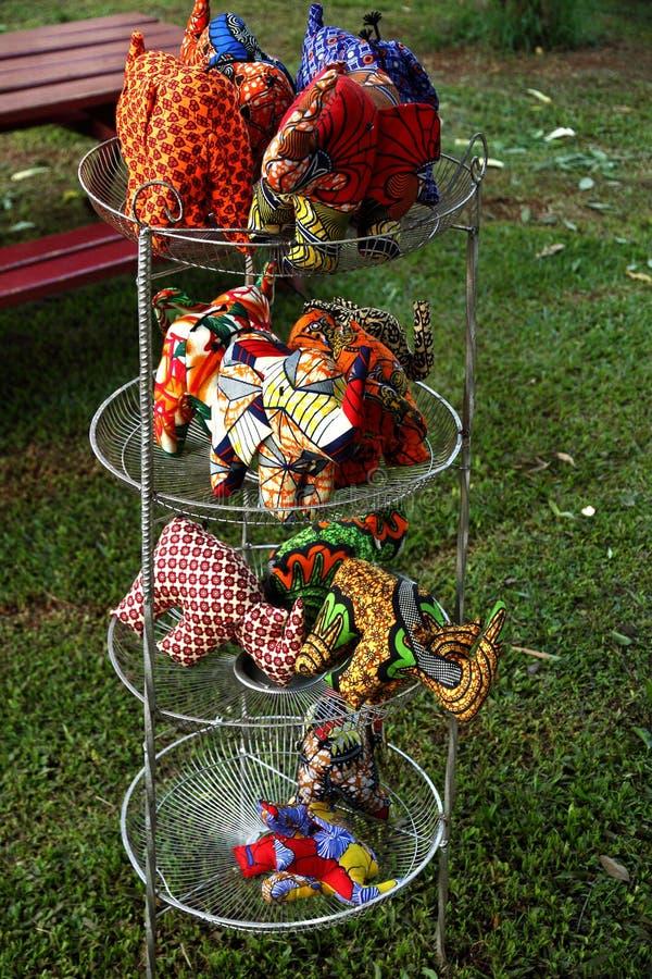 Bichos de pelúcia feitos à mão imagem de stock royalty free