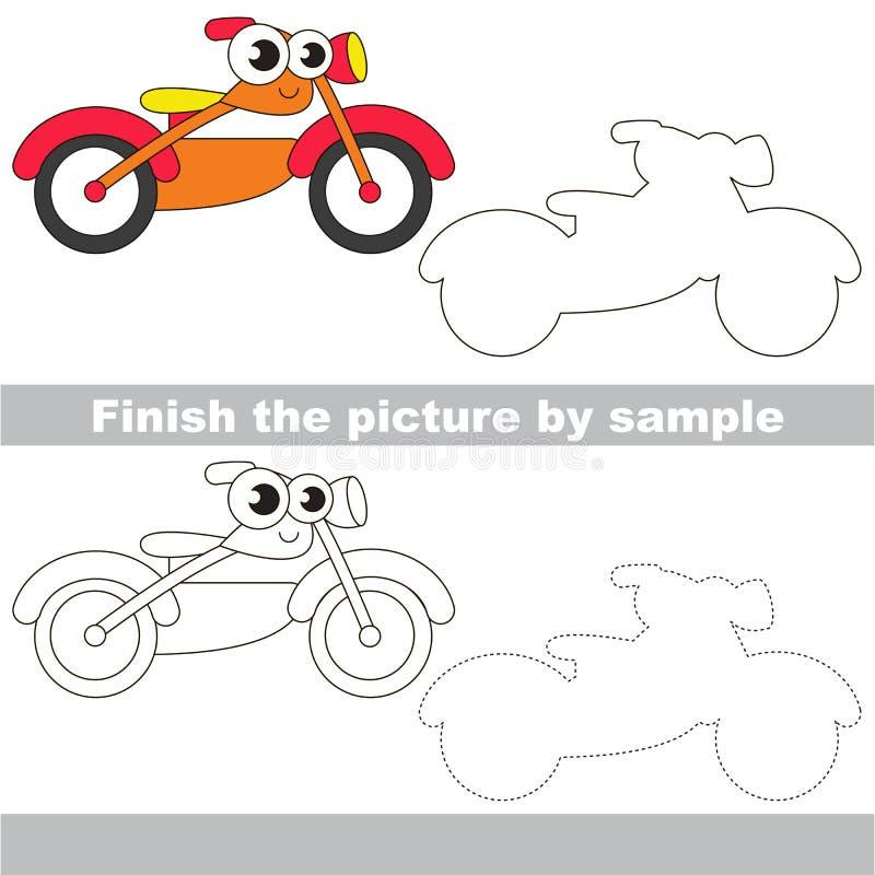 Bici anaranjada Hoja de trabajo del dibujo libre illustration