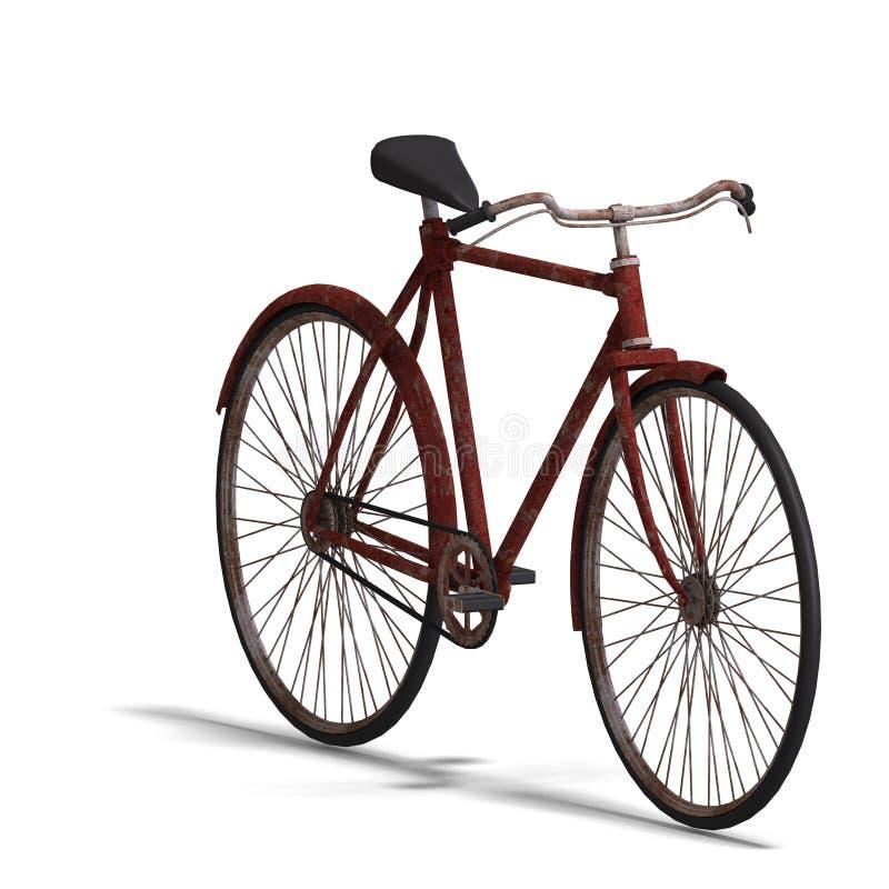 Bici arrugginita illustrazione di stock