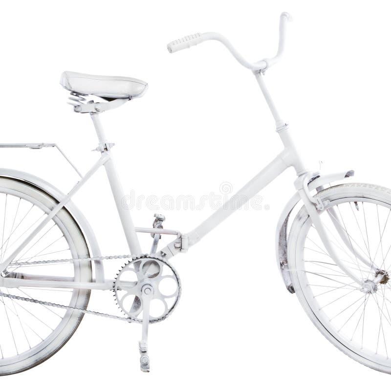 Bici blanca del vintage fotografía de archivo