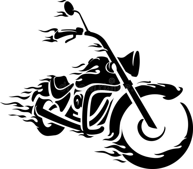 Bici Chopper Ride illustrazione vettoriale