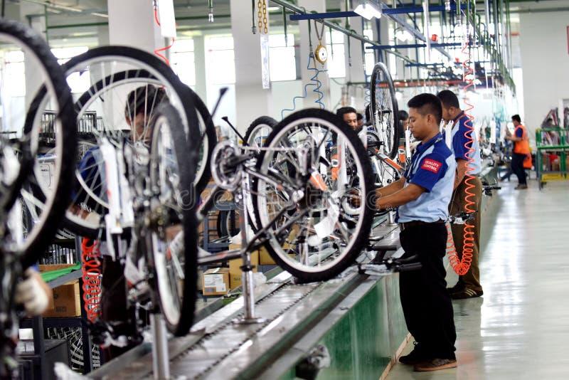 Bici de la bicicleta de la asamblea de Indonesia foto de archivo