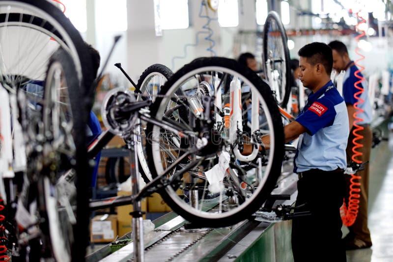 Bici de la bicicleta de la asamblea de Indonesia fotografía de archivo libre de regalías