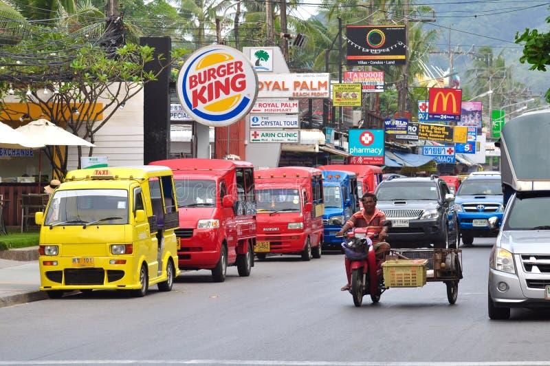 Bici de la comida, Phuket imagen de archivo