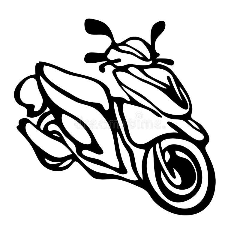 Bici de los deportes en estilo del bosquejo Imagen del vector pintada con la ISO de las manos libre illustration