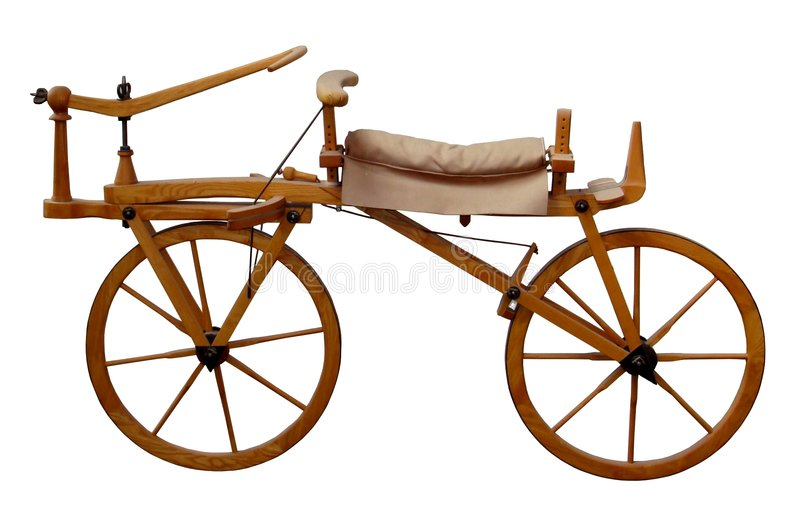 Bici de madera antigua fotografía de archivo libre de regalías