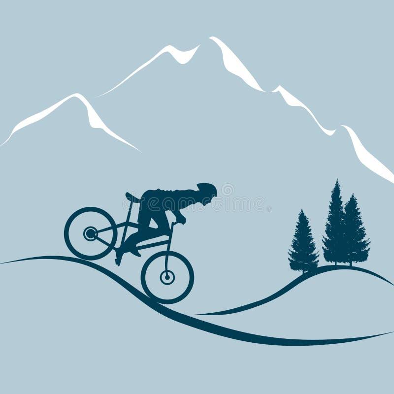 Bici de montaña libre illustration