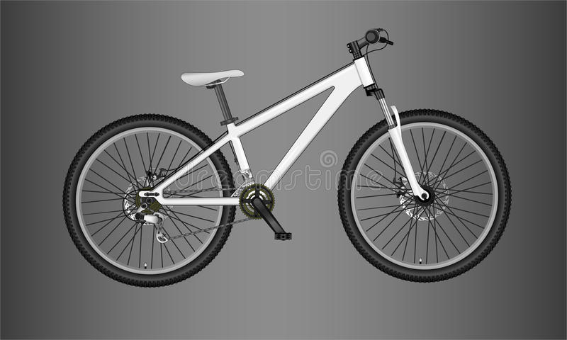 Bici de montaña stock de ilustración