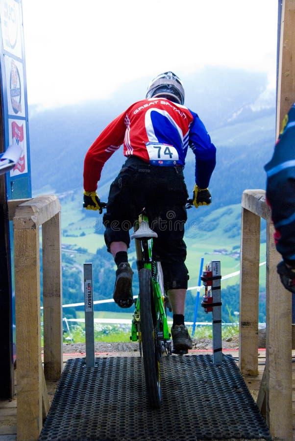 Bici de montaña de UCI cuesta abajo en Leogang 2010 imagen de archivo libre de regalías