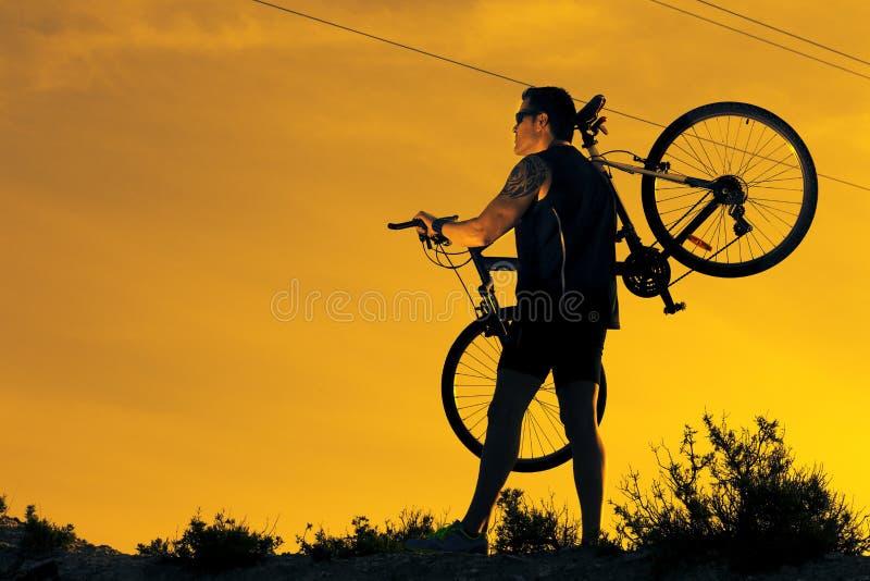 Bici de montaña Deporte y vida sana fotos de archivo