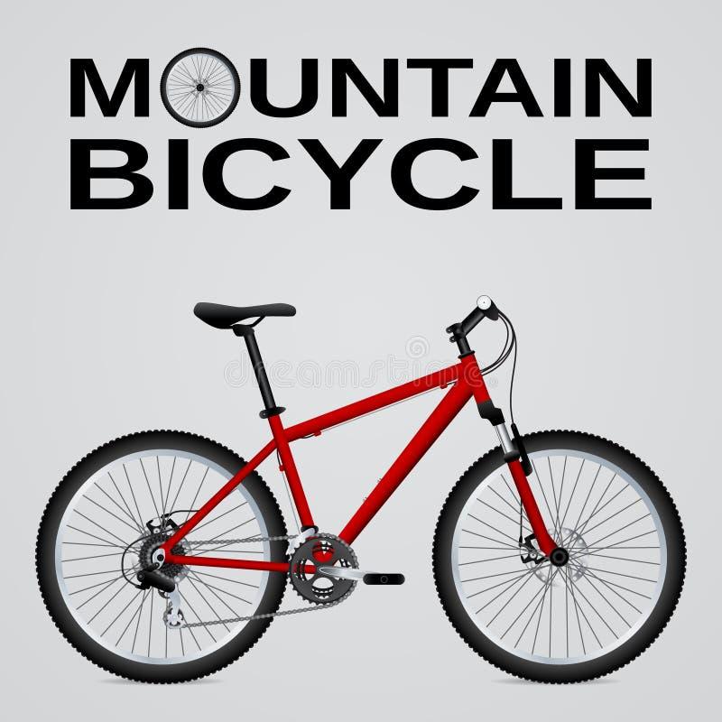 Bici de montaña Objeto aislado Imagen del vector stock de ilustración