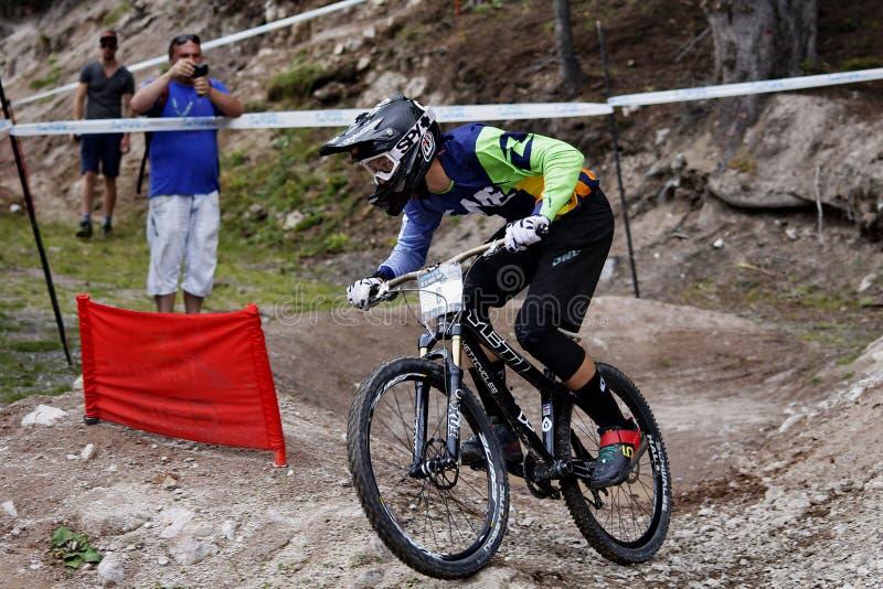 Bici de montaña, Pamporovo, Bulgaria, competencia del mundial fotografía de archivo libre de regalías
