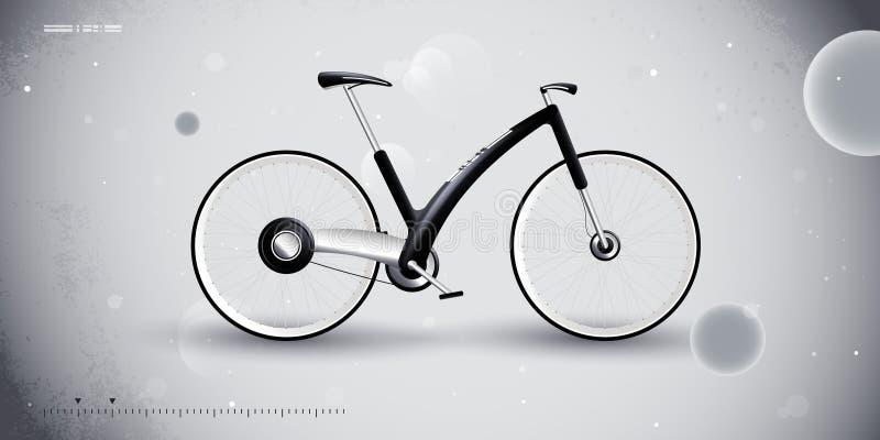 Bici del concepto para el transporte urbano. producto ilustración del vector