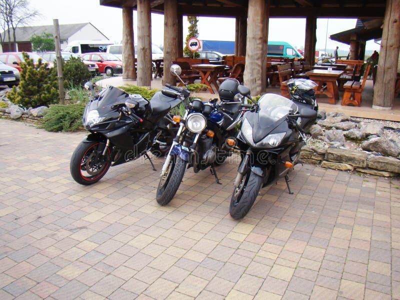 Bici del deporte de tres motocicletas imágenes de archivo libres de regalías