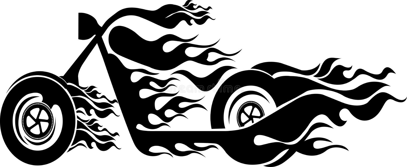 Bici del fuego de la velocidad libre illustration