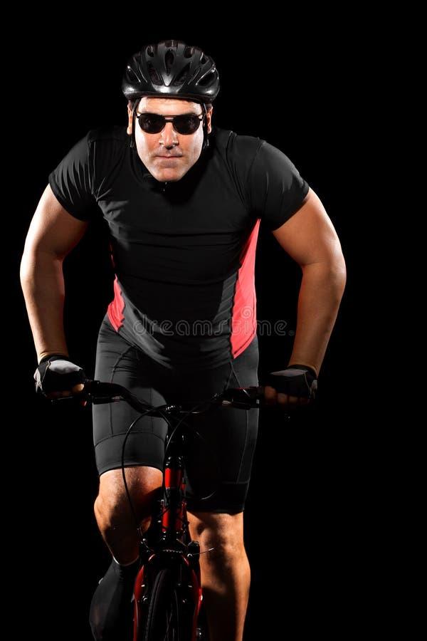 Bici del montar a caballo del ciclista imagen de archivo libre de regalías