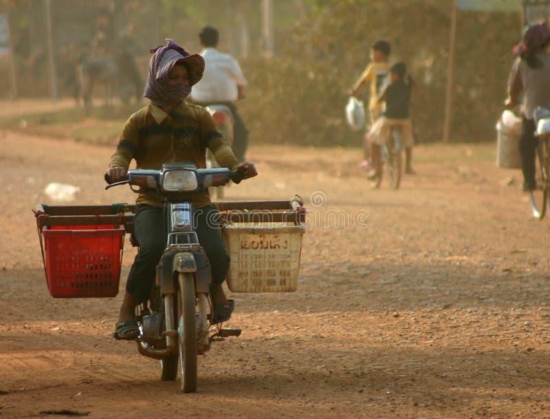 Bici del motor, Camboya imagenes de archivo