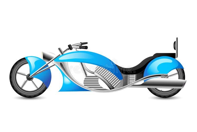 Bici del motor del estilo del vintage ilustración del vector