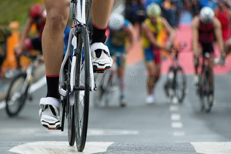 Bici del Triathlon imagen de archivo