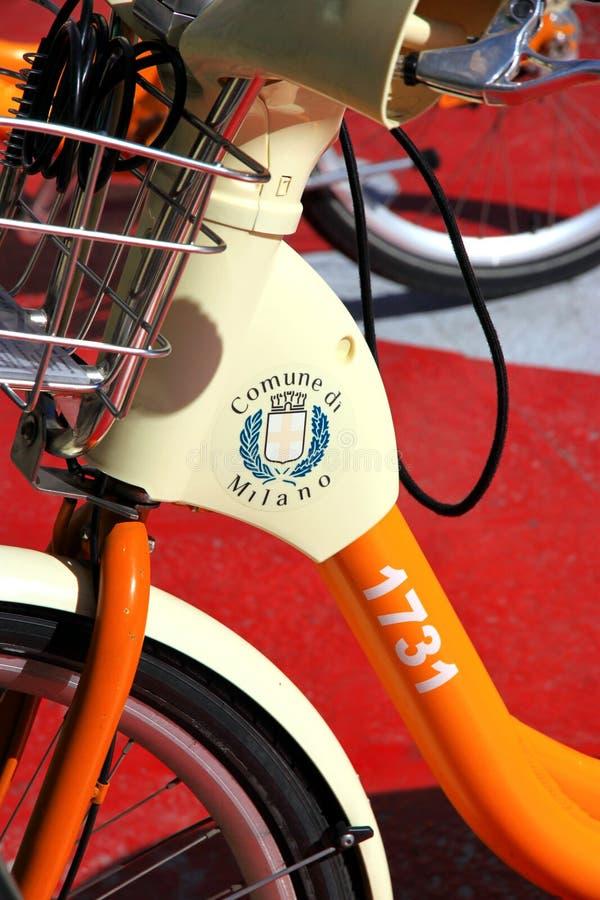 Bici della città di Milano fotografia stock