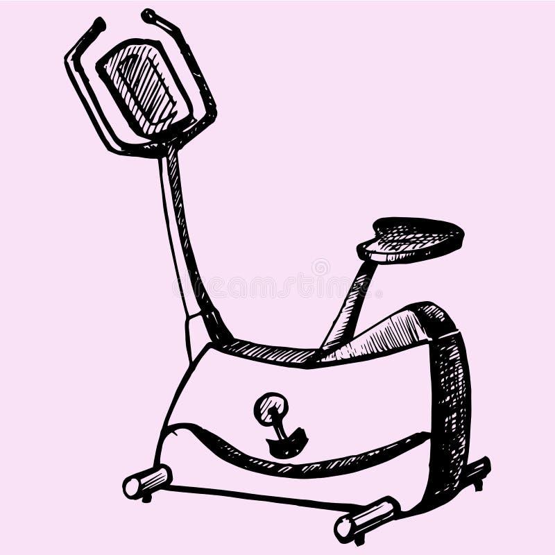 Bici di esercizio illustrazione vettoriale