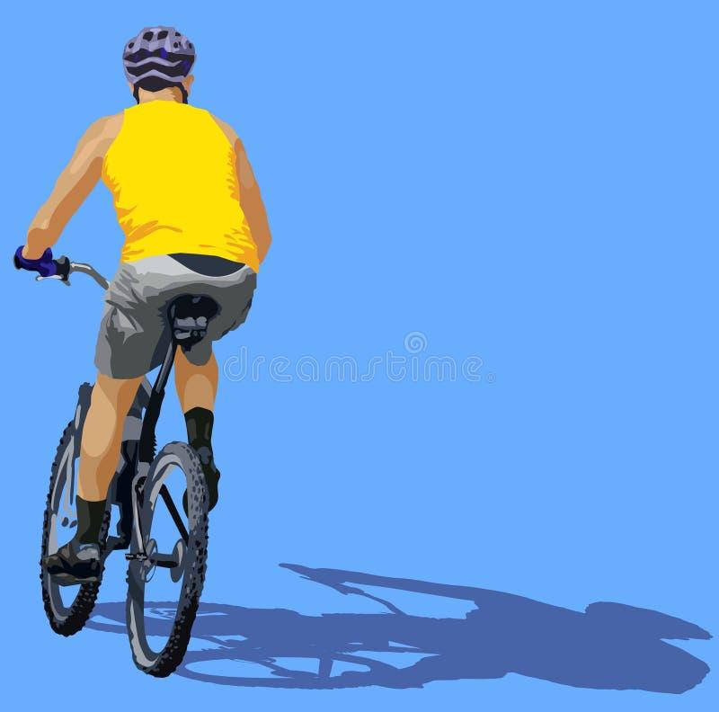 Bici di guida del ciclista royalty illustrazione gratis