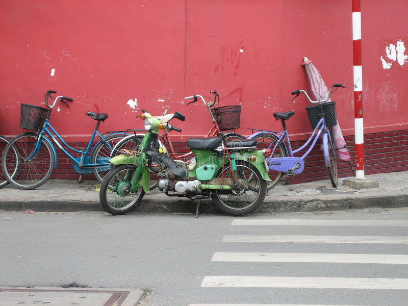 Bici di Saigon, Vietnam fotografie stock
