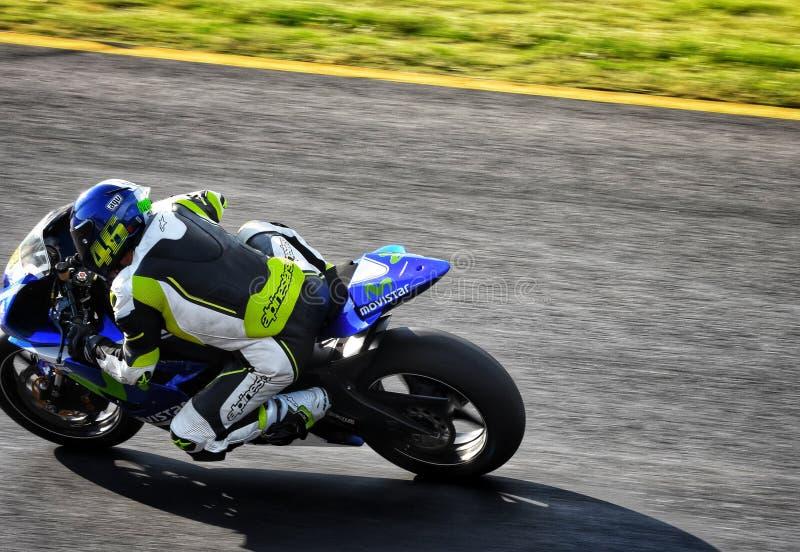 Bici di sport che corre nella pista di corsa di Sydney immagini stock libere da diritti