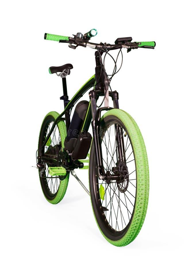 Bici elettrica su bianco con il percorso di ritaglio immagini stock