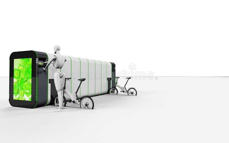 Bici elettriche locative della bici automatica immagini stock