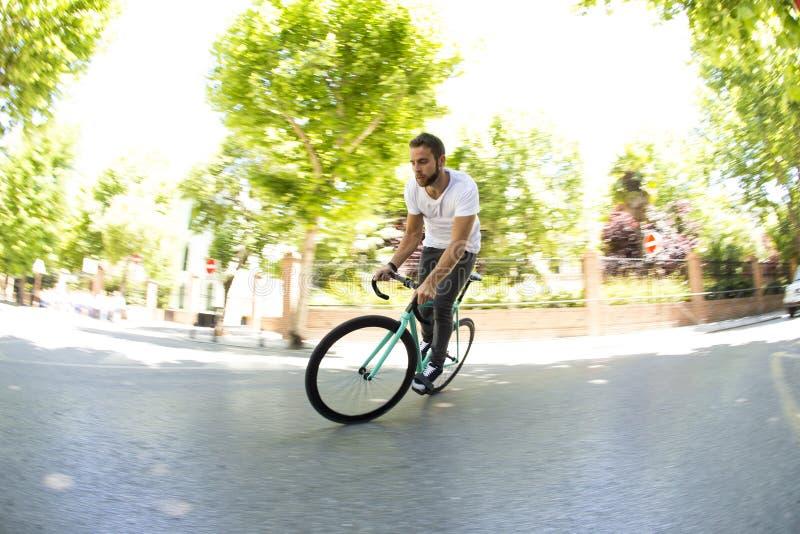 Bici fissa dell'ingranaggio fotografia stock