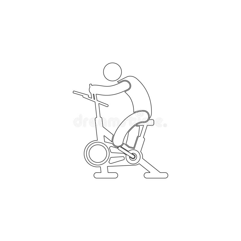 Bici inm?vil Icono plano del vector libre illustration