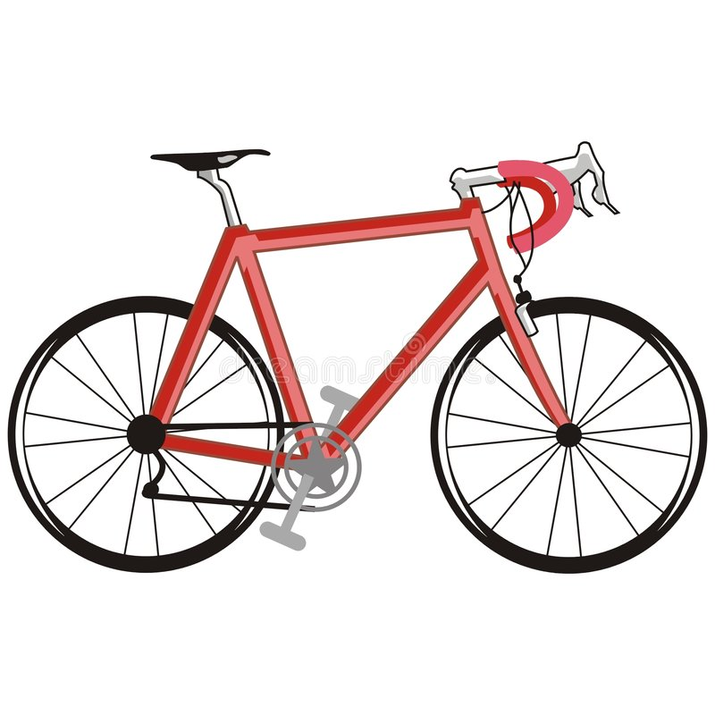 Bici rossa royalty illustrazione gratis