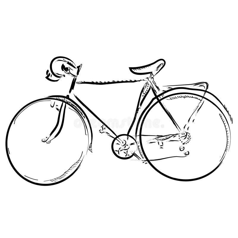 Bici semplice di schizzo di tiraggio della mano royalty illustrazione gratis