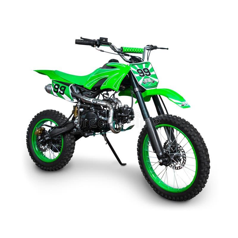 Bici verde del motocrós imágenes de archivo libres de regalías