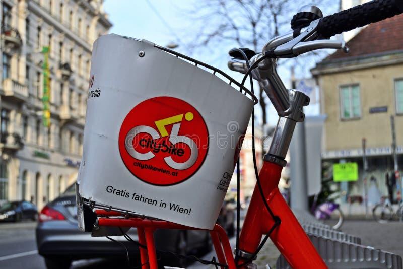 Bici Vienna della città immagine stock