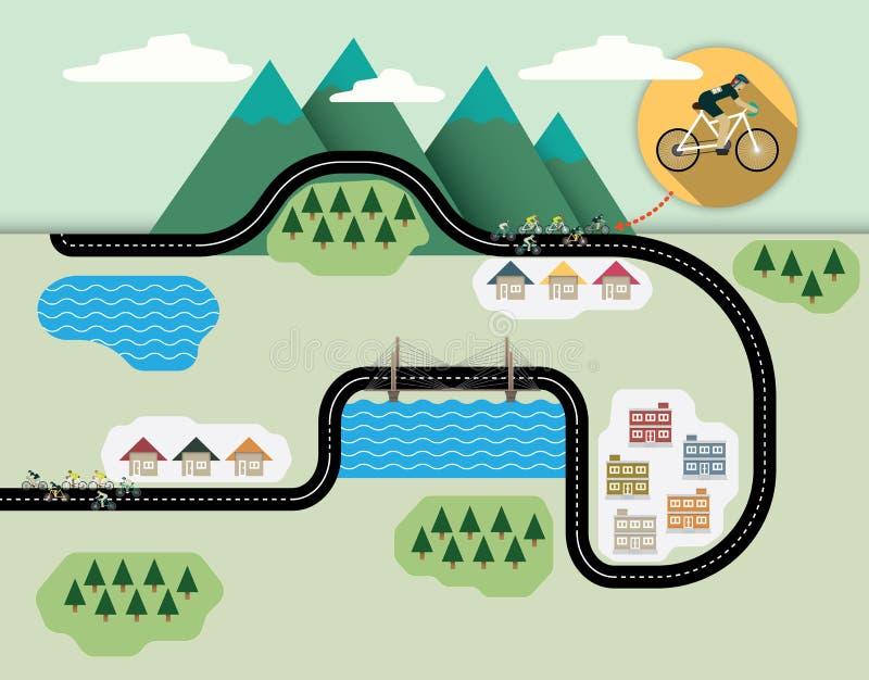 A bicicleta ilustração royalty free