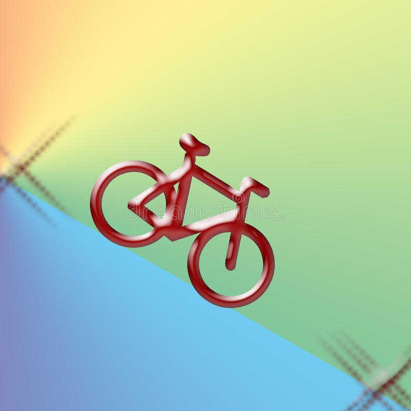 Bicicleta ilustração stock