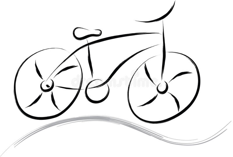 Bicicleta abstrata ilustração do vetor