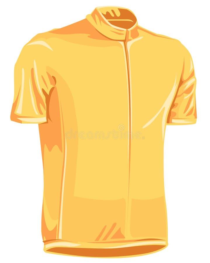 Bicicleta amarilla Jersey del arranque de cinta fotografía de archivo libre de regalías