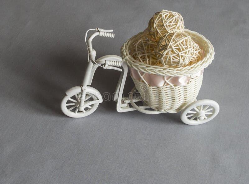 Bicicleta artificial del vintage fotos de archivo