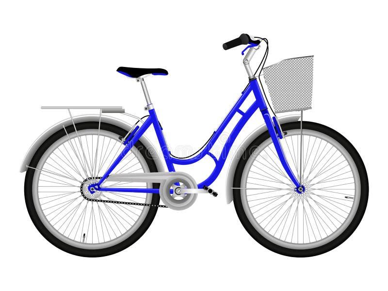 Bicicleta azul stock de ilustración